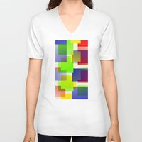 discount V-neck T-shirts featuring City by Roxana Jordan