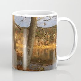 Delaware River Glowing Fall Foliage Coffee Mug