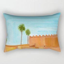 walls and palms Rectangular Pillow