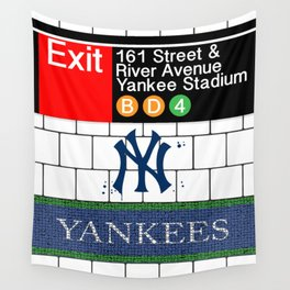NYC Yankees Subway Wall Tapestry