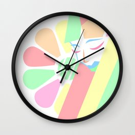 Pastel Melancholy in Spring Wall Clock