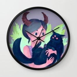 Cat Demon Wall Clock