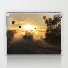 Hot Air Balloons on a Foggy Morning Laptop & iPad Skin