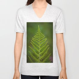 fern leaf Unisex V-Neck
