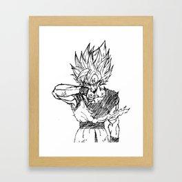 Super Saiyan Son Goku Drawing Framed Art Print