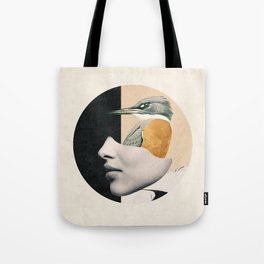 collage art / bird Tote Bag
