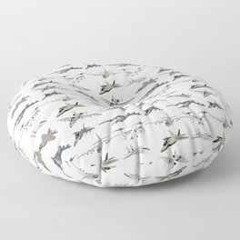 US Military Airplanes Floor Pillow