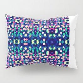 Vibrant Blue Bokeh Kaleidescope Pattern Pillow Sham