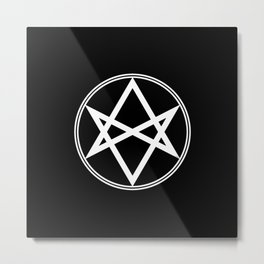 Men of Letters Symbol White Metal Print