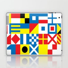 International Alphabetical Marine Signal Flags Laptop & iPad Skin