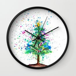 Happy Tree Wall Clock
