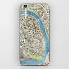 New Orleans City Map iPhone Skin