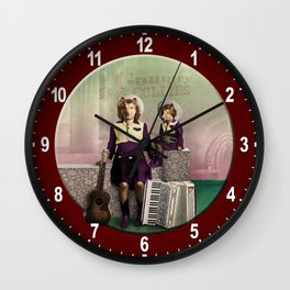 The Country Collies Wall Clock