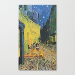 Vincent can Gogh's Cafe Terrace at Night Canvas Print