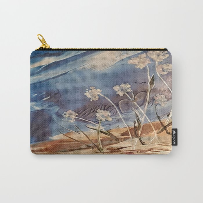 Spring White flowers Carry-All Pouch