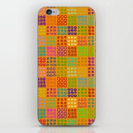 Aztec Wannabe (Orange) iPhone Skin