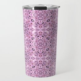 Pink kaleidoscope wallpaper Travel Mug
