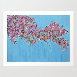 Cherry Blossoms, Pink Flower Wall Art Prints, Impressionism Art Print