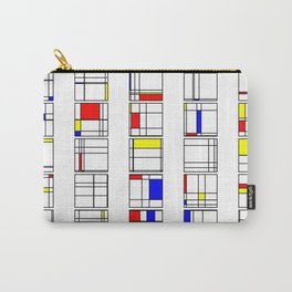 "Math Art Digital Print - ""mondRian"" Carry-All Pouch"
