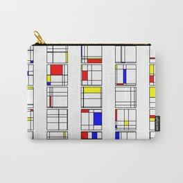 """Math Art Digital Print - """"mondRian"""" Carry-All Pouch"""