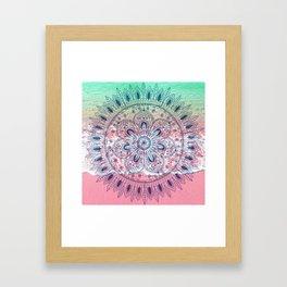 Summer beach bohemian mandala Framed Art Print
