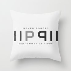 RIP 911; Never Forget Throw Pillow