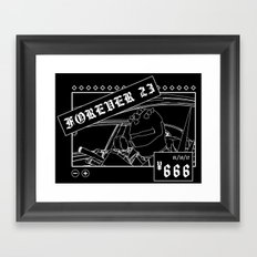 ¥666: Chicharrón Framed Art Print