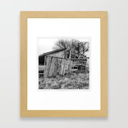 Old Iowa Barn Framed Art Print