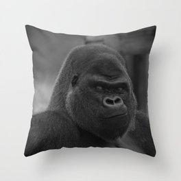 Oumbi The Silverback Gorilla Throw Pillow