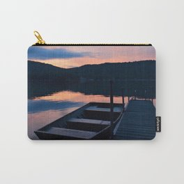 Pretty Adirondack Dawn: Jon Boat and Old Dock Carry-All Pouch