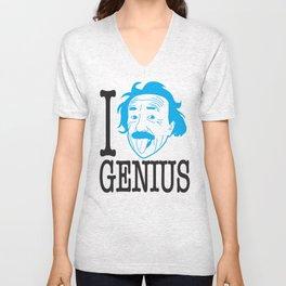 I __ Genius Unisex V-Neck