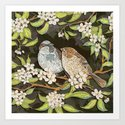 Sparrows in the Plum Tree by lottibrown