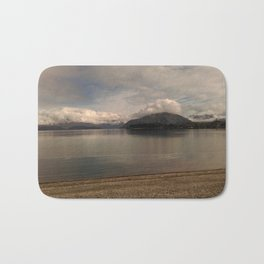 lake wanaka silent capture at sunset in new zealand Bath Mat