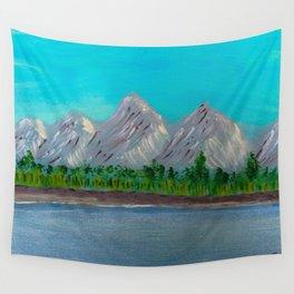 Mountain Lake Wall Tapestry