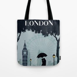 London vintage poster travel Tote Bag
