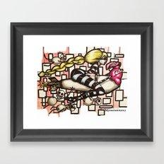 Bomb Girl Framed Art Print