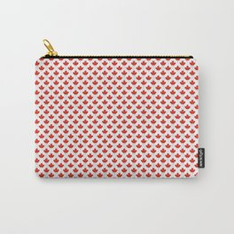 Maple leaf pattern with grey stripes Carry-All Pouch