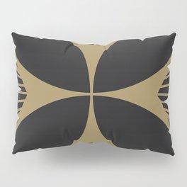 Diamond Series Floral Cross Gold on Charcoal Pillow Sham