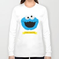 cookie monster Long Sleeve T-shirts featuring C FOR COOKIE MONSTER by Emils Blums