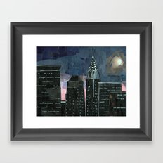 Night time in the city Framed Art Print