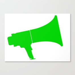 Green Isolated Megaphone Canvas Print