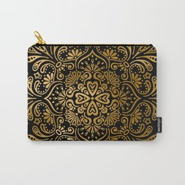 Sophisticated Black and Gold Art Deco Pattern Carry-All Pouch