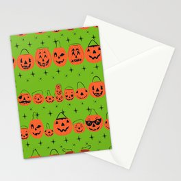Trick or Treat Smell My Feet- Green Stationery Cards