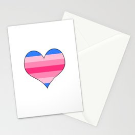 Trans Woman Heart Stationery Cards