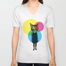 Cat Stuck In A Human Body Unisex V-Neck