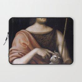 Jean Clouet - Portrait of François I as St John the Baptist Laptop Sleeve