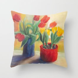 longing for spring - tulip Throw Pillow