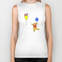 pooh Biker Tanks featuring pooh and piglet by BlackBlizzard
