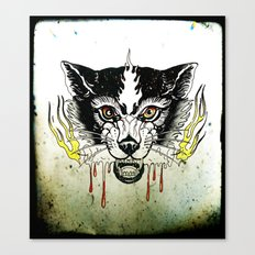 Space Cat King Fire Canvas Print