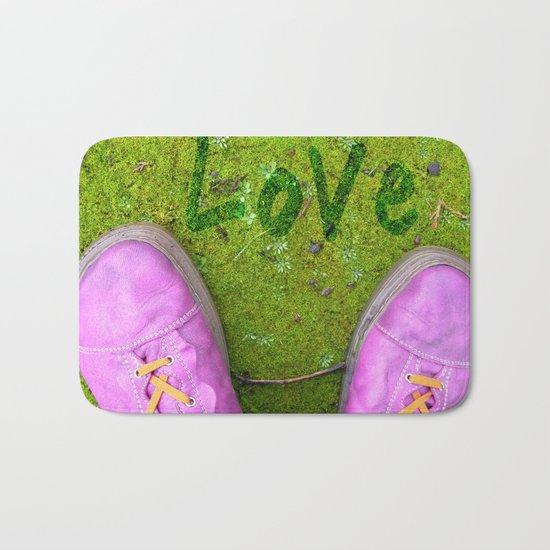 Vegetal Garden and Pink Shoes Bath Mat